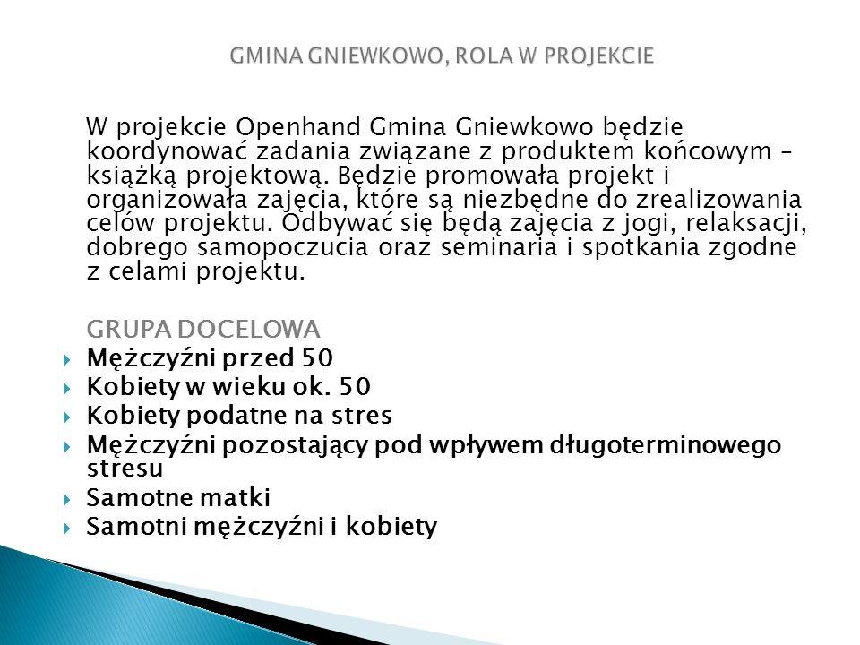 W projekcie Openhand Gmina Gniewkowo będzie koordynować zadania związane z produktem końcowym – książką projektową.