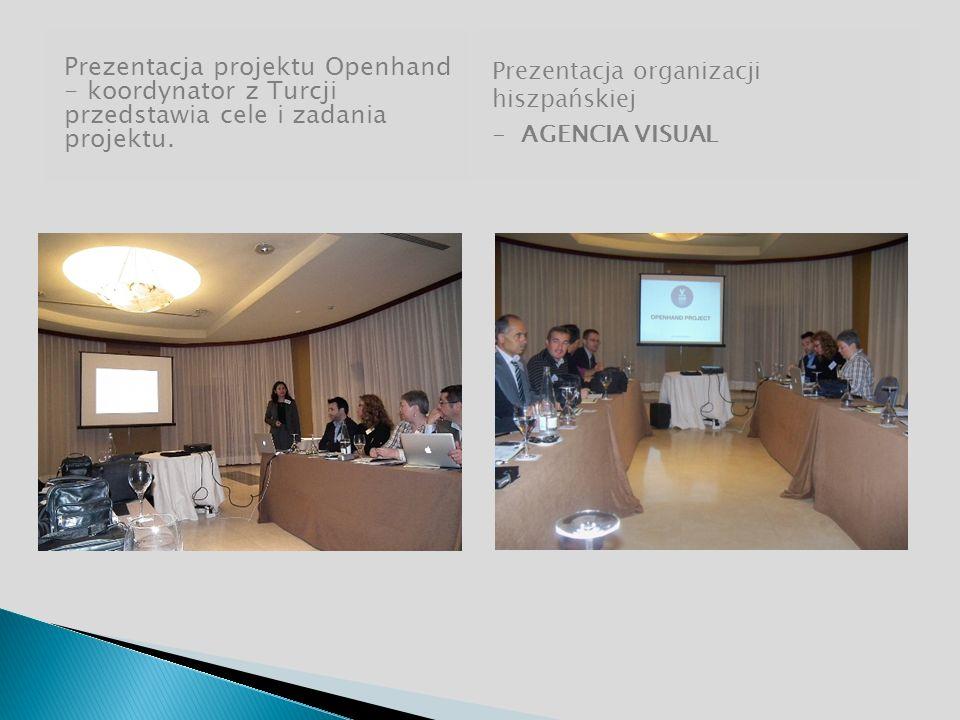 Prezentacja projektu Openhand - koordynator z Turcji przedstawia cele i zadania projektu.
