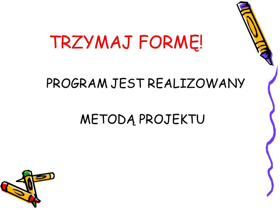 Przykłady tematyki projektów medialnych w ramach programu Trzymaj formę.
