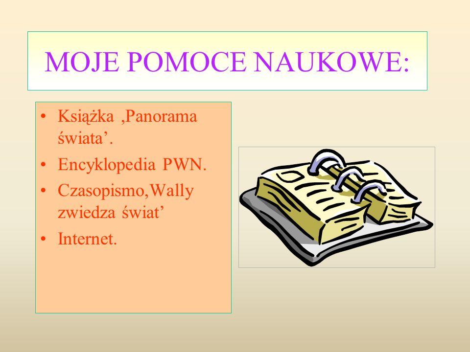 MOJE POMOCE NAUKOWE: Książka,Panorama świata.Encyklopedia PWN.
