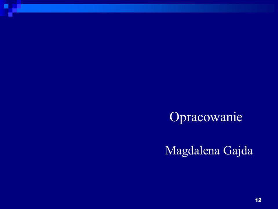 12 Opracowanie Magdalena Gajda