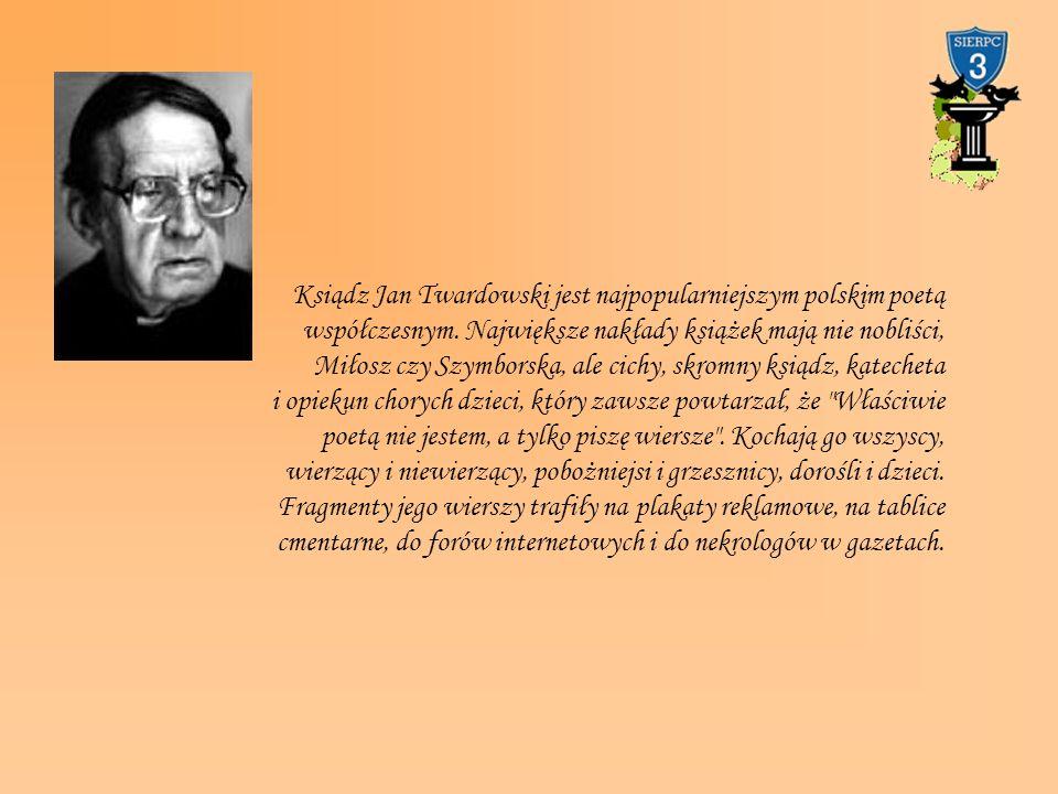 Ksiądz Jan Twardowski jest najpopularniejszym polskim poetą współczesnym. Największe nakłady książek mają nie nobliści, Miłosz czy Szymborska, ale cic