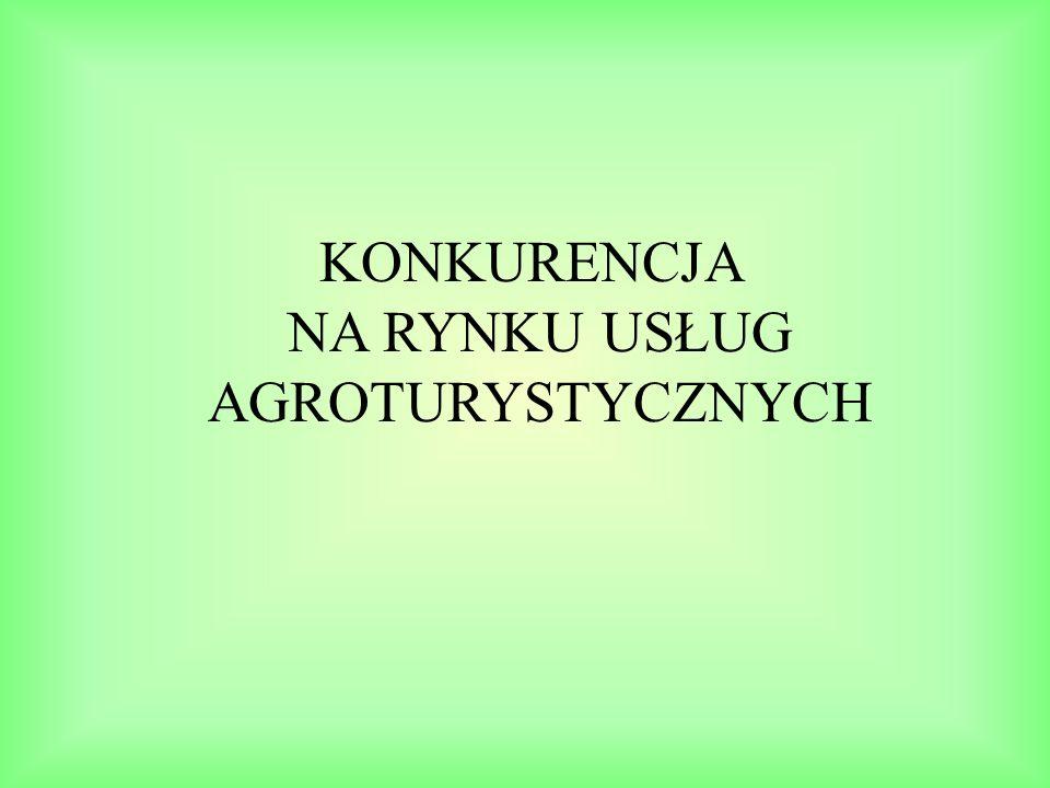 Struktura badanych gospodarstw agroturystycznych według opinii ich właścicieli o zmianach poziomu konkurencji na rynku usług agroturystycznych Źródło: opracowanie własne na podstawie badań ankietowych, n=97.