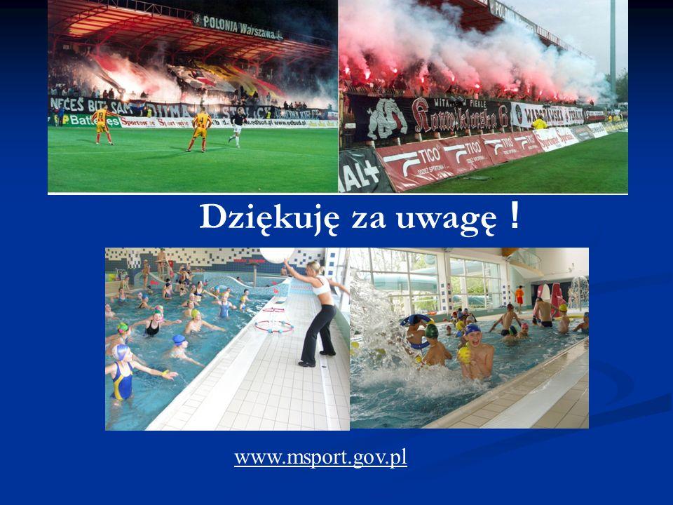 Dziękuję za uwagę ! www.msport.gov.pl