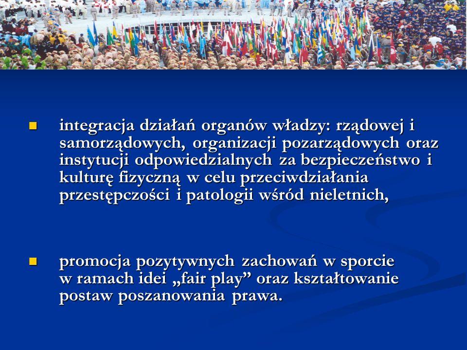 integracja działań organów władzy: rządowej i samorządowych, organizacji pozarządowych oraz instytucji odpowiedzialnych za bezpieczeństwo i kulturę fi