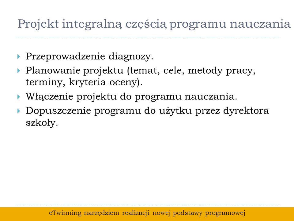 Projekt integralną częścią programu nauczania Przeprowadzenie diagnozy.