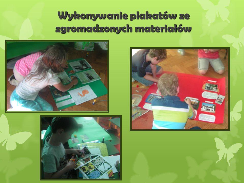 Wykonywanie plakatów ze zgromadzonych materiałów