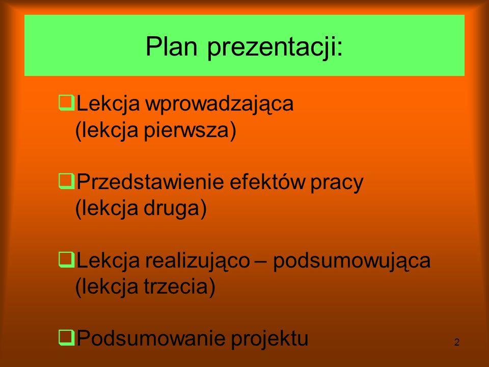 1 Klasa II pod opieką Bożeny Szymanowicz Gimnazjum im.