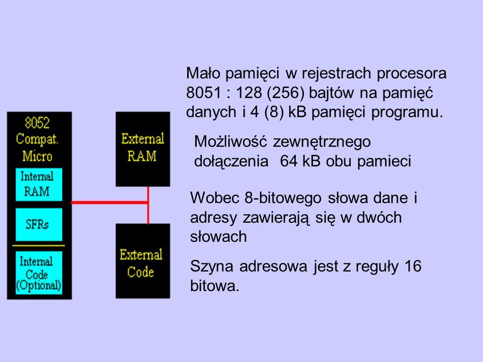 Programowanie – mnemonika- asembler- kompilatory Przesyłanie adresów, danych, kodów rozkazów i sterowania jest możliwe jedynie zestawem wartości binarnych, co nie jest dogodne przy programowaniu pracy mikroprocesora.