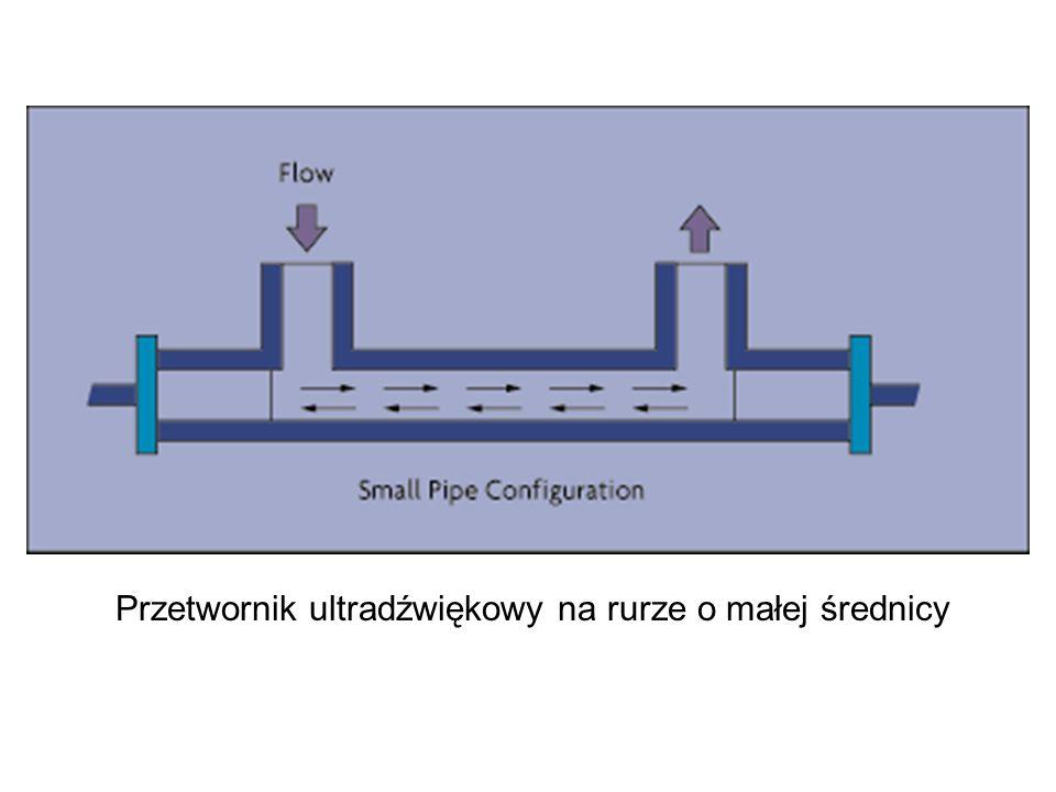 Przetwornik ultradźwiękowy na rurze o małej średnicy
