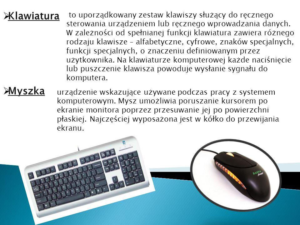 to uporządkowany zestaw klawiszy służący do ręcznego sterowania urządzeniem lub ręcznego wprowadzania danych. W zależności od spełnianej funkcji klawi