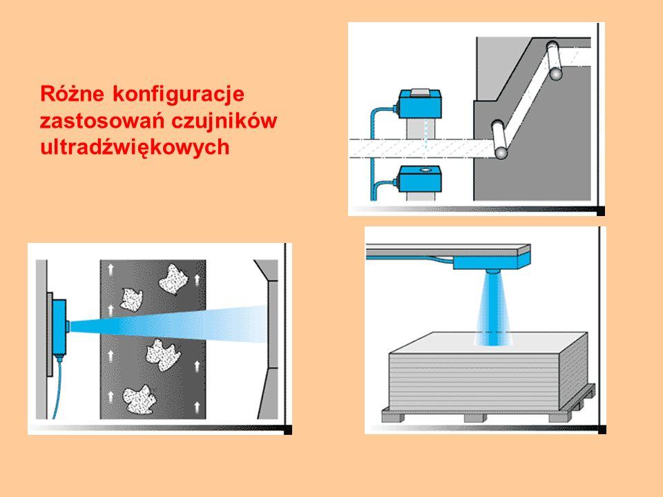 Różne konfiguracje zastosowań czujników ultradźwiękowych