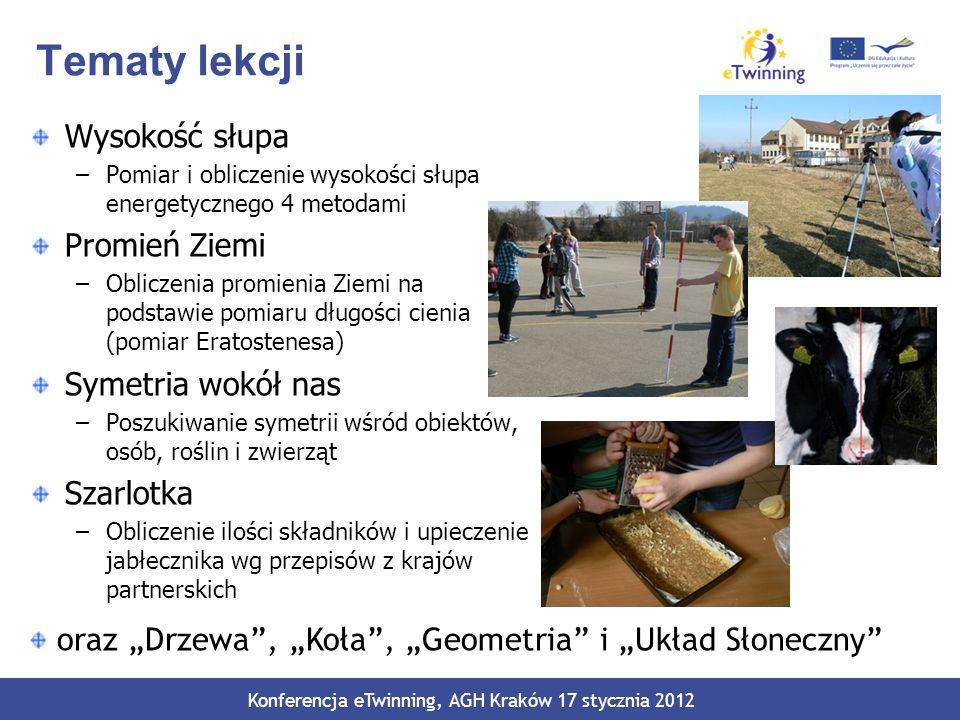 Język angielski w projekcie Komunikacja –Czat –Video konferencja Wspólna edycja dokumentów on-line Redagowanie tekstów (slajdy, instrukcje, przepisy) Filmy video Konferencja eTwinning, AGH Kraków 17 stycznia 2012