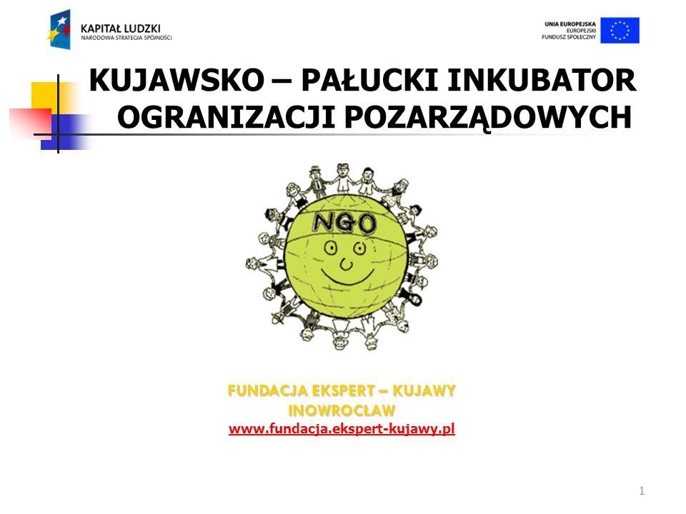1 KUJAWSKO – PAŁUCKI INKUBATOR OGRANIZACJI POZARZĄDOWYCH FUNDACJA EKSPERT – KUJAWY INOWROCŁAW www.fundacja.ekspert-kujawy.pl
