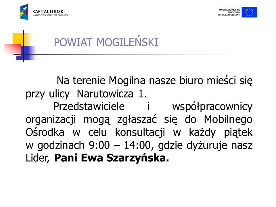 Na terenie powiatu mogileńskiego do udziału w projekcie zgłosiły się 24 osoby z 13 różnych organizacji.