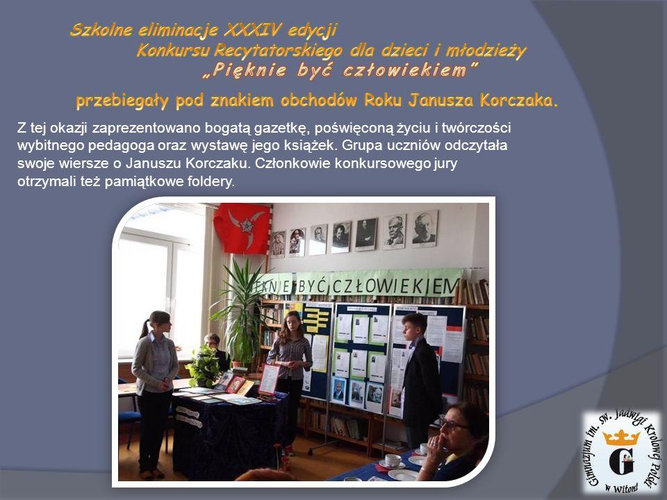 Z tej okazji zaprezentowano bogatą gazetkę, poświęconą życiu i twórczości wybitnego pedagoga oraz wystawę jego książek.