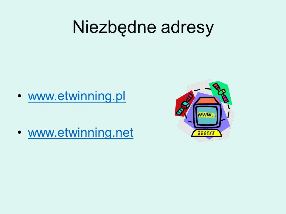 Niezbędne adresy www.etwinning.pl www.etwinning.net