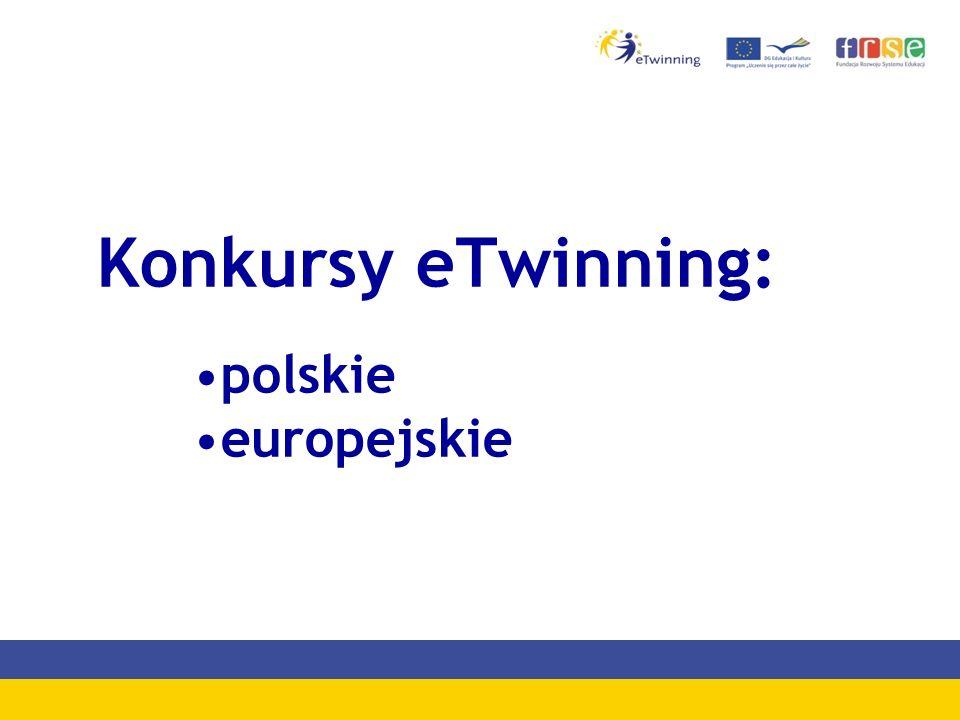 Konkursy eTwinning: polskie europejskie