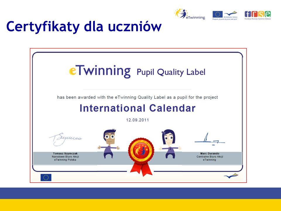 Certyfikaty dla uczniów