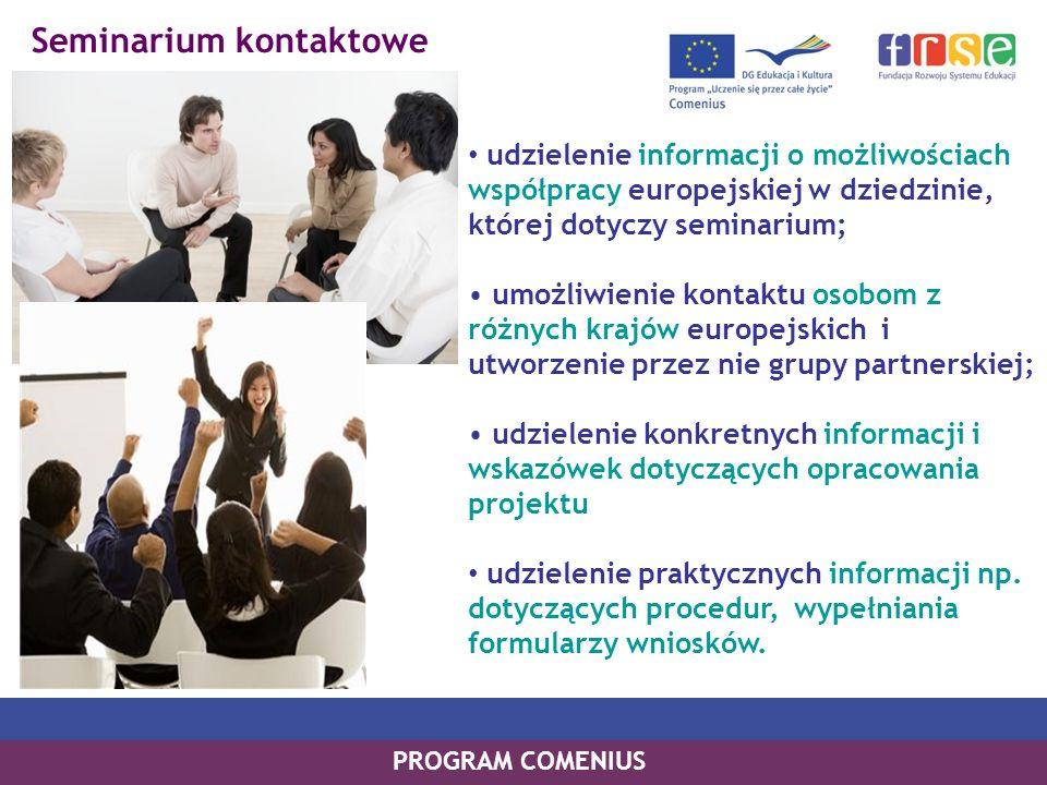 Wizyta przygotowawcza Taka wizyta umożliwia partnerom potencjalnego projektu spotkanie mające na celu: dopracowanie założeń, celów i metodologii projektu; określenie roli i zadań partnerów; opracowanie budżetu i planu pracy; wspólne wypełnienie wniosku o dofinansowanie projektu.