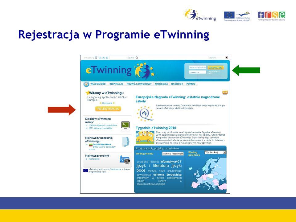 Rejestracja w Programie eTwinning