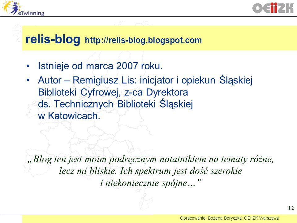 Istnieje od marca 2007 roku. Autor – Remigiusz Lis: inicjator i opiekun Śląskiej Biblioteki Cyfrowej, z-ca Dyrektora ds. Technicznych Biblioteki Śląsk