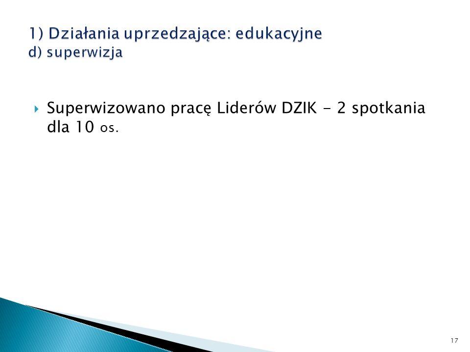 Superwizowano pracę Liderów DZIK - 2 spotkania dla 10 os. 17