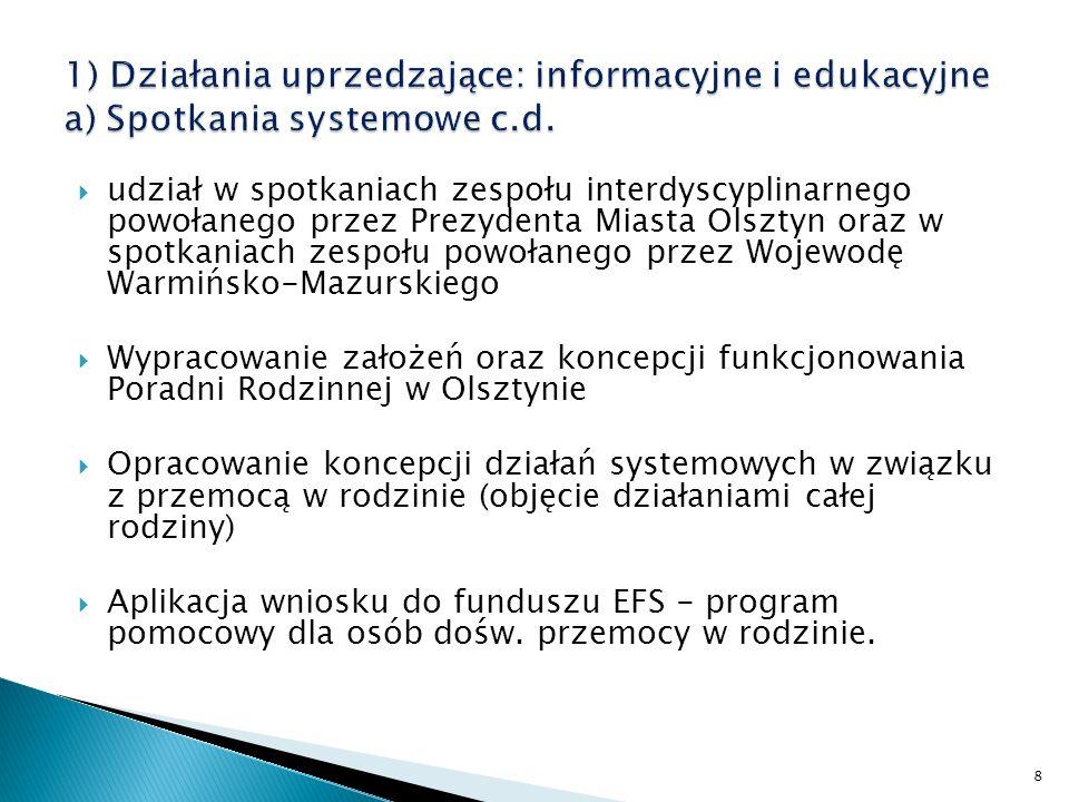 Wypracowywanie efektywności procedury NK (KMP oraz MOPS) Kontynuacja procedury informowania Policji o klientach MZPiTU oraz MOPS w związku z procedurą NK Podjęcie działań zmierzających do połączenia procedury NK z działaniami DZIK 9