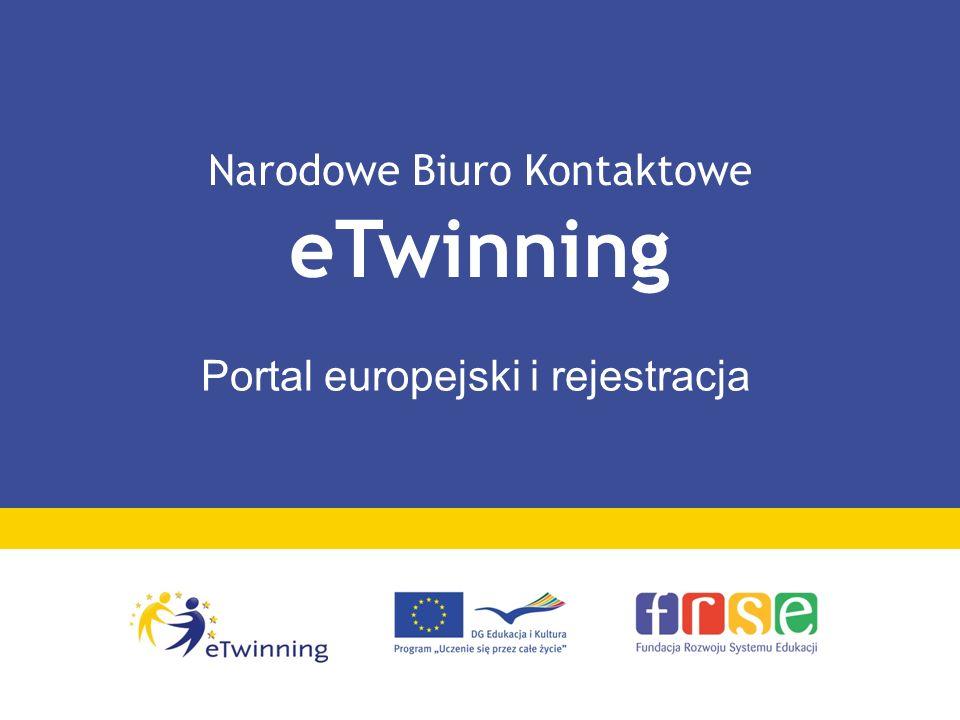 Narodowe Biuro Kontaktowe eTwinning Portal europejski i rejestracja