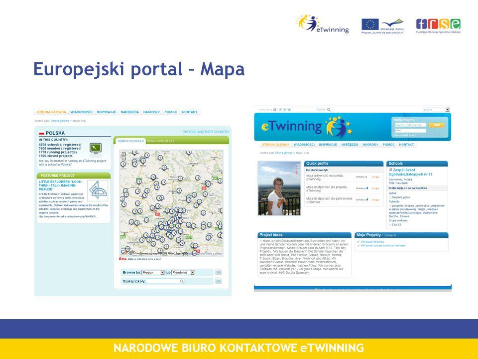 NARODOWE BIURO KONTAKTOWE eTWINNING Europejski portal – Mapa