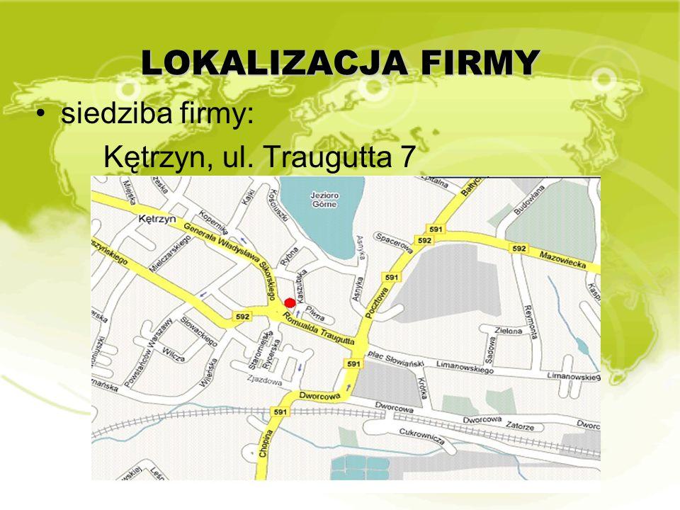 OBSZAR DZIAŁANIA FIRMY powiat kętrzyński