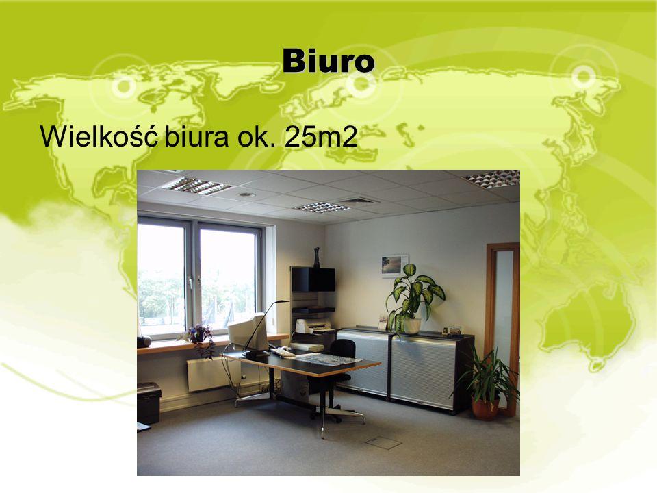Biuro Wielkość biura ok. 25m2