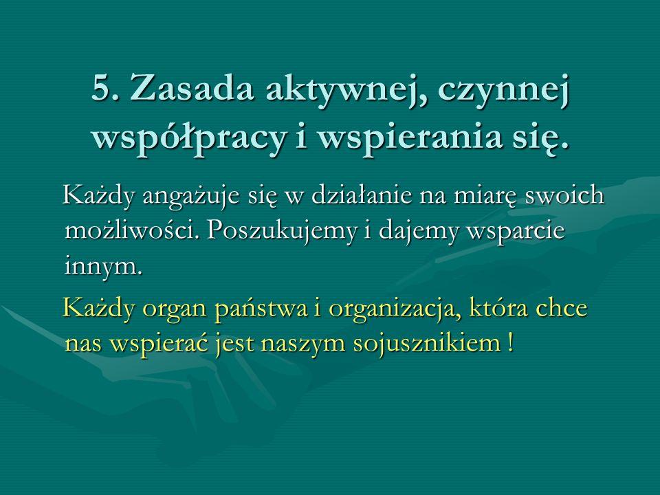 5.Zasada aktywnej, czynnej współpracy i wspierania się.