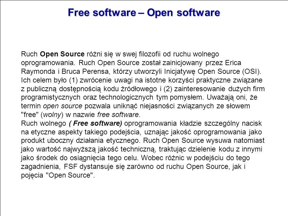 Typy licencji oprogramowania GNU General Public License Powszechna Licencja Publiczna GNU (GNU General Public License) jest jedną z licencji wolnego o