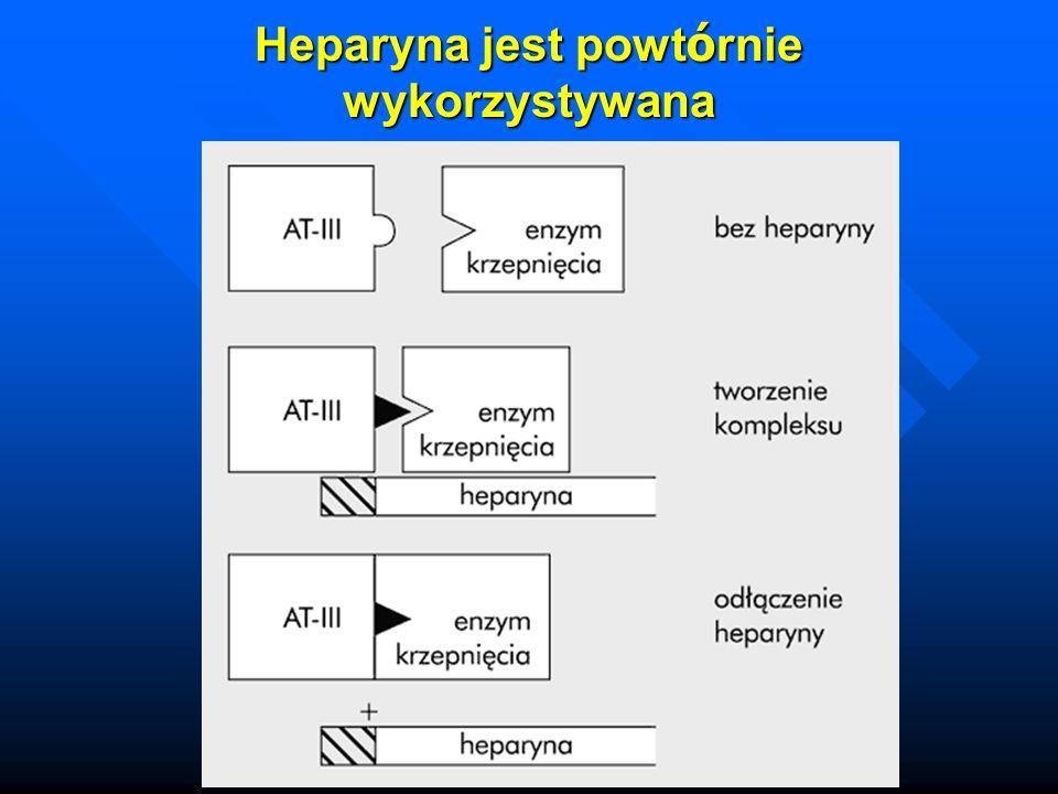 Heparyna jest powt ó rnie wykorzystywana