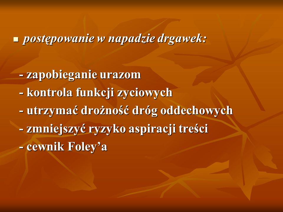 - leki: siarczan magnezu - dawka wstępna 4-6g iv w 15-20 min - dawka wstępna 4-6g iv w 15-20 min - ew.