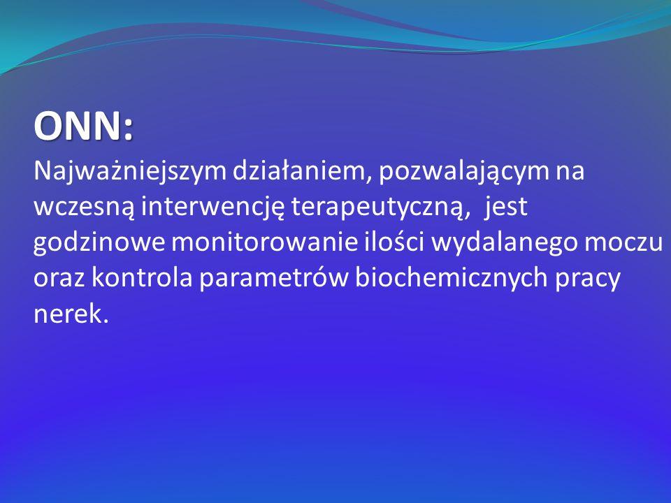 ONN: Najważniejszym działaniem, pozwalającym na wczesną interwencję terapeutyczną, jest godzinowe monitorowanie ilości wydalanego moczu oraz kontrola