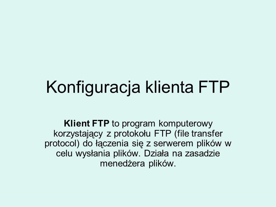 Core FTP Lite to przykład klienta FTP