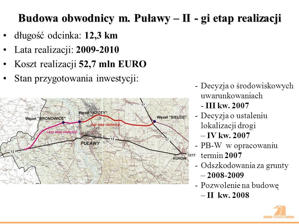 Przebudowa odcinka Piaski – Dorohusk (wraz z obwodnicą m.