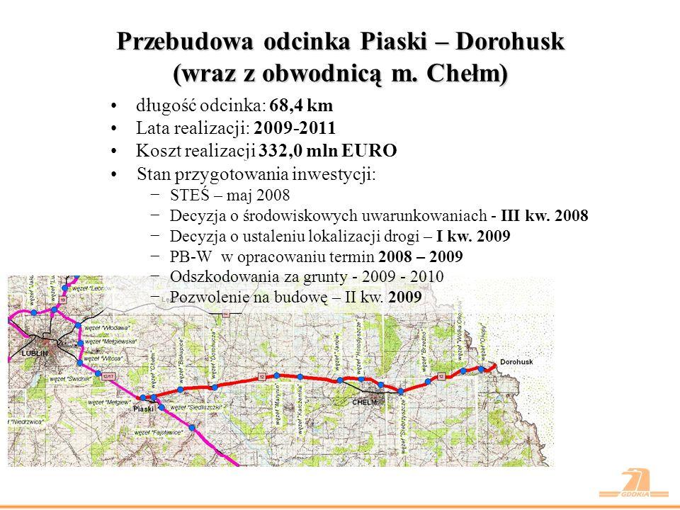 Droga ekspresowa S19 odc.gr. woj. mazowieckiego –Międzyrzec Podlaski – koniec obw.