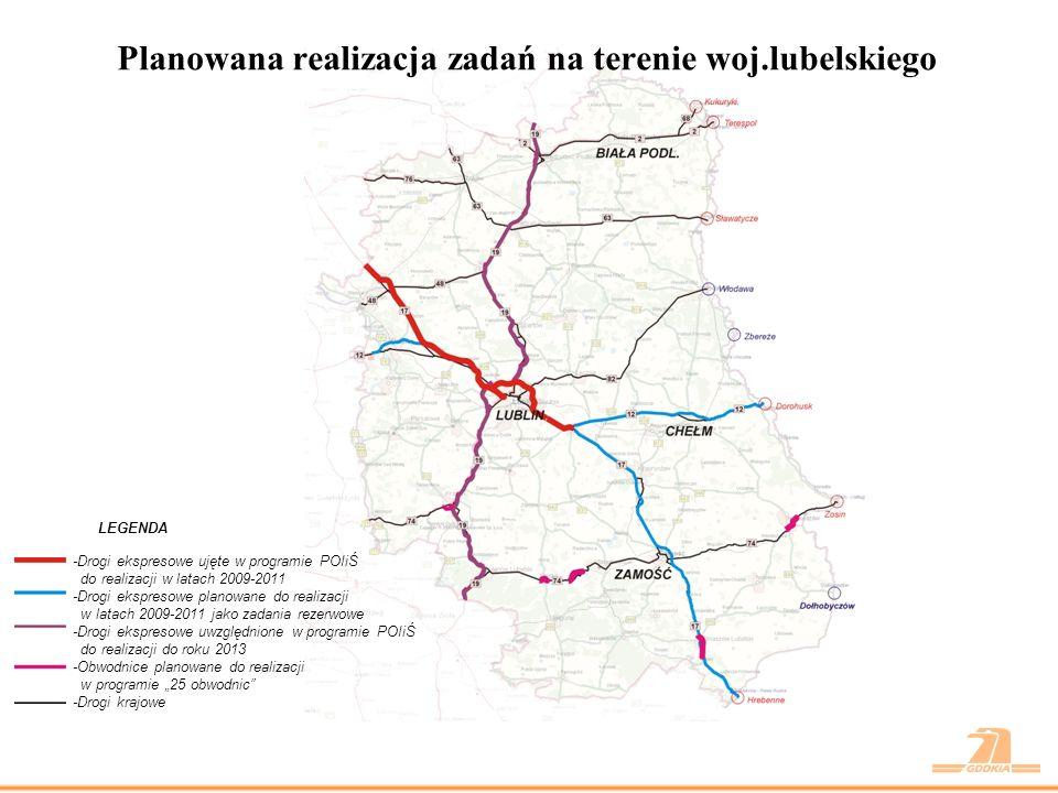 Budowa drogi ekspresowej S17 w latach 2009 – 2011 Droga S17 Warszawa – Lublin – Hrebenne – granica państwa a)odcinek gr.