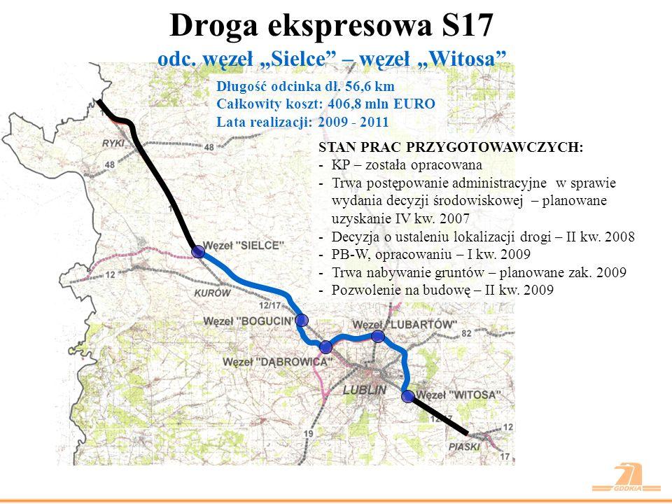 Droga ekspresowa S17 odc.węzeł Witosa – Piaski Długość odcinka dł.