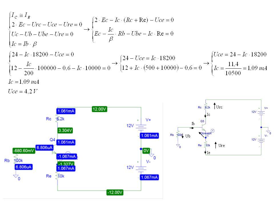 Zadanie 5 Oszacuj punkt pracy tranzystora (IDQ, UDSQ) pracującego w układzie wzmacniacza z rys.5.