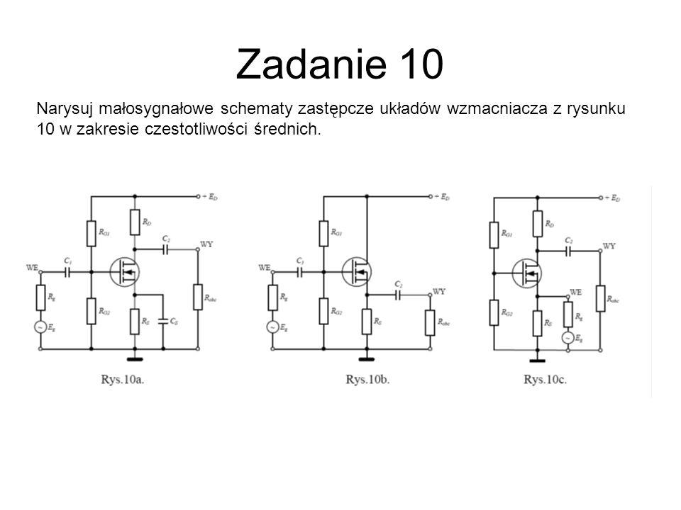 10a Model tranzystora MOSFET w układzie WS