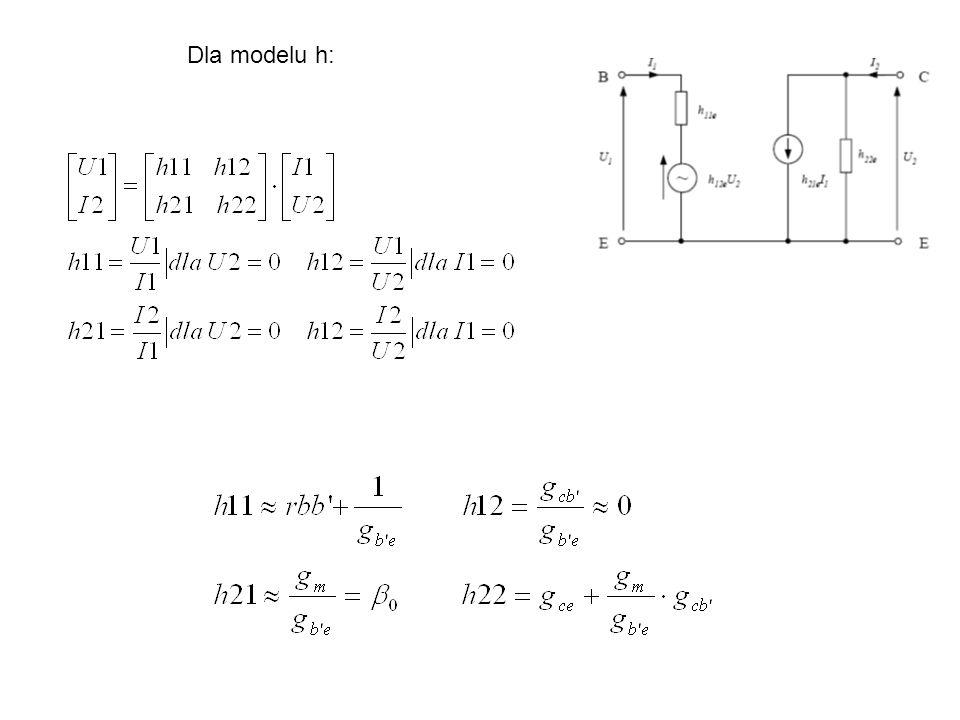 Dla modelu h:
