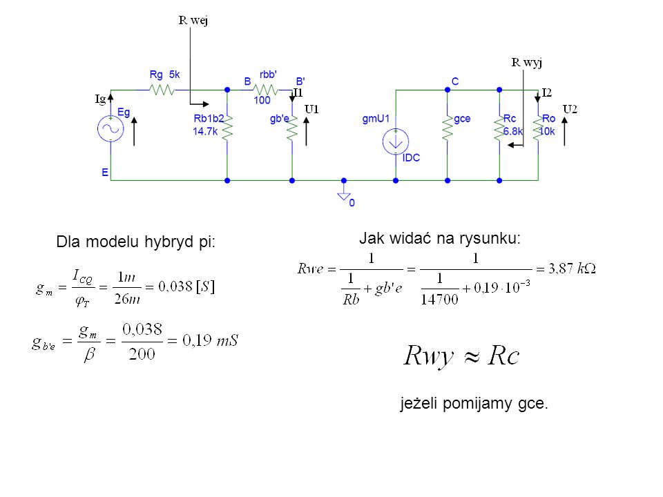 Zadanie 15 Oszacuj dolną częstotliwość graniczną układu wzmacniacza z rys.9a.