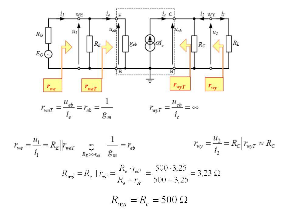 Zadanie 23 Oszacuj parametry robocze (kUsk, RWE, RWY) układu wzmacniacza z rys.10a.