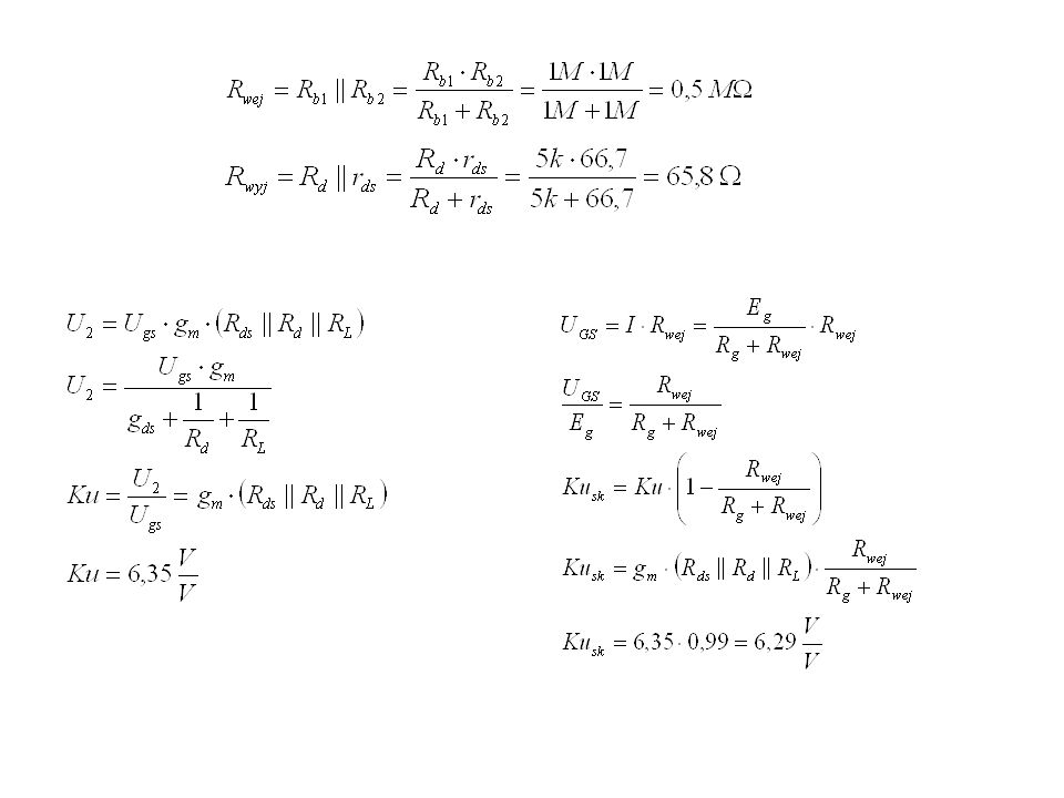 Zadanie 24 Oszacuj parametry robocze (kUsk, RWE, RWY) układu wzmacniacza z rys.10b.