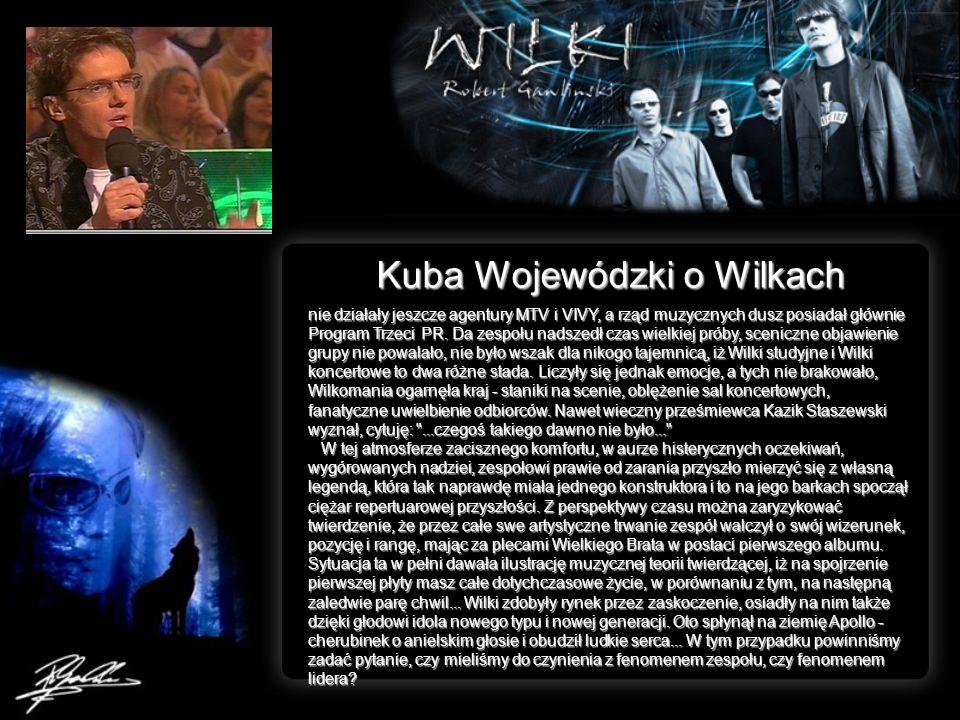 Kuba Wojewódzki o Wilkach nie działały jeszcze agentury MTV i VIVY, a rząd muzycznych dusz posiadał głównie Program Trzeci PR. Da zespołu nadszedł cza