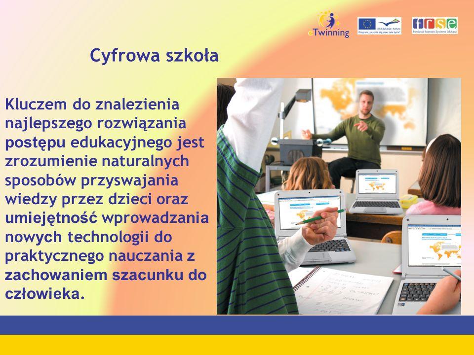 Cyfrowa szkoła Kluczem do znalezienia najlepszego rozwiązania postępu edukacyjnego jest zrozumienie naturalnych sposobów przyswajania wiedzy przez dzi